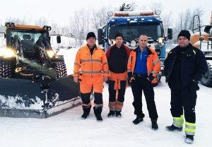 Henry Kiviniemi, Kent Fagerkull, Christer Eliasson och Andreas Övergård arbetar alla på Tekniska Verkens avdelning gata/park. De har märkt en stor förändring på hela arbetsplatsen och hälsan får mycket större fokus idag än tidigare.